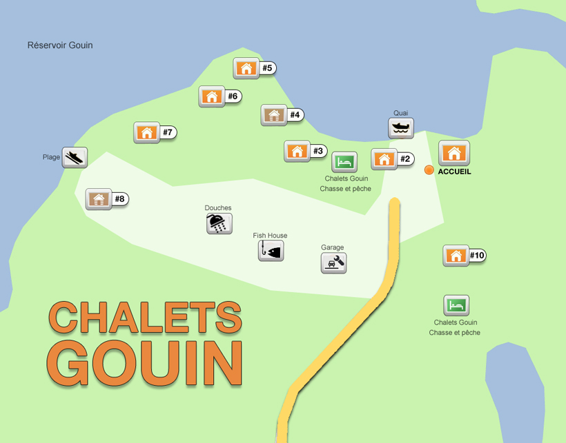 chalets gouin map